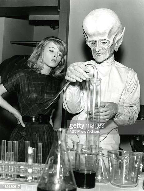 LIMITS 'The Sixth Finger' 10/14/63 Jill Haworth and David McCallum on the ABC Television Network scifi series 'The Outer Limits' A scientist...