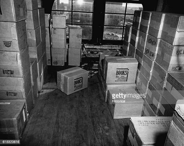 The sixth floor of the Texas School Book Depository Dallas Texas Included as an exhibit for the Warren Commission Ca November 1963