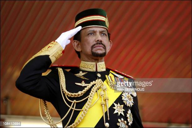 The Sixtieth Birthday Celebration of Sultan of Brunei Hassanal Bolkiah and his new wife queen Azrina in Brunei Darussalam on July 15 2006