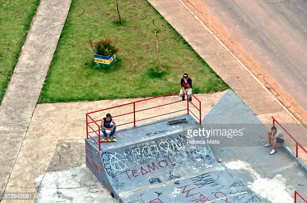 The skaters time to pause for View from the top in Jundiaí São Paulo Brazil
