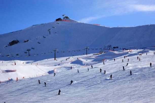The ski area near Canazei