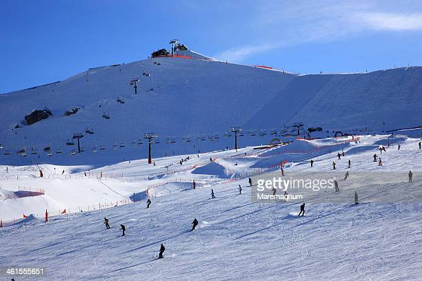 the ski area near canazei - カナツェイ ストックフォトと画像
