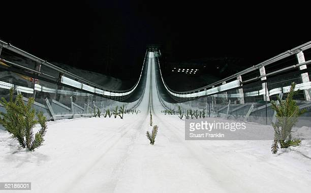 The Ski Jumping Stadium at Pragelato on Feburary 11 2005 in Pragelato Italy