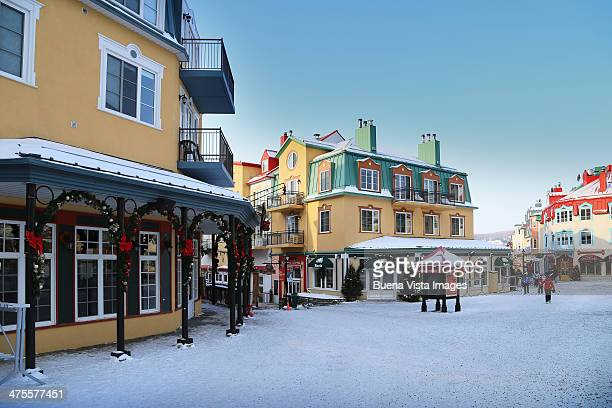 the ski resort of mont tremblant - mont tremblant stock pictures, royalty-free photos & images