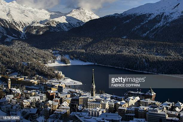 The ski resort of St Moritz is seen on December 8 2012 Switzerland's Olympic committee is to back a joint bid from the luxury Alpine resorts of Davos...