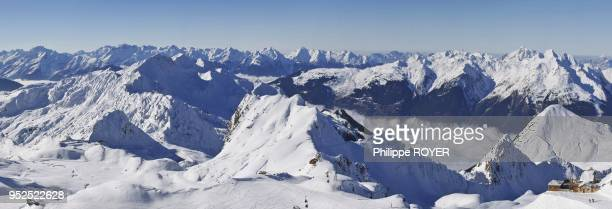 The ski ressort of La Plagne in Tarentaise valley Savoy France