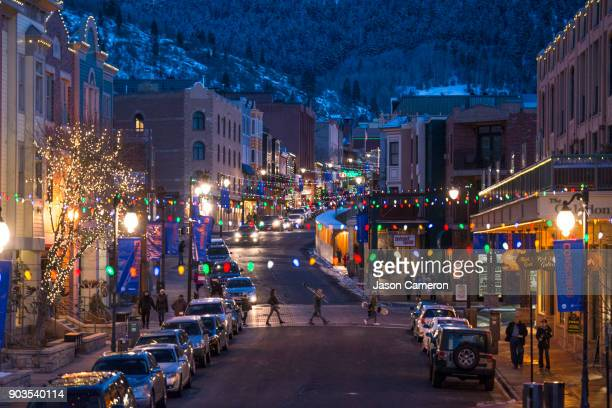 the ski town ii - utah stock pictures, royalty-free photos & images