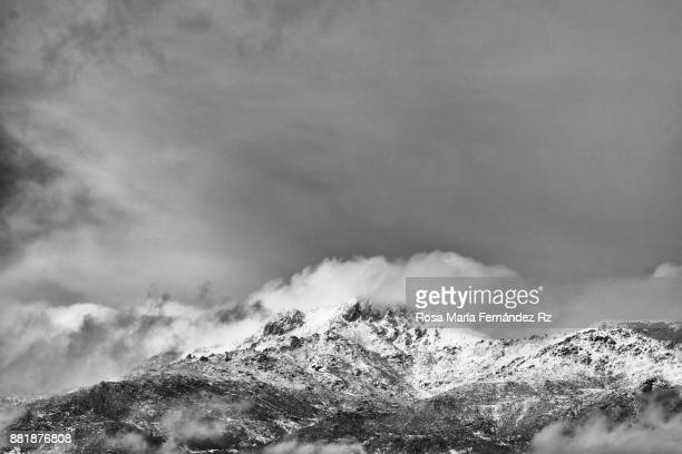 The skies above: Dramatic cloud sky over snow mountain.