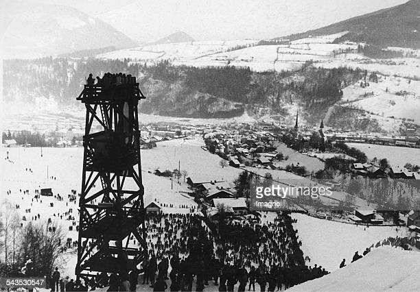 The skijump of Bischofshofe The last competition of the Four Hills Tournament 1963 Salzburg 6th January 1963 Photograph by Franz Votava
