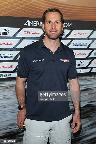 The skipper of Team Bar, Ben Ainslie attends the Skippers Press Conference - City of Naples - America's Cup World Series on April 16, 2013 in Naples,...