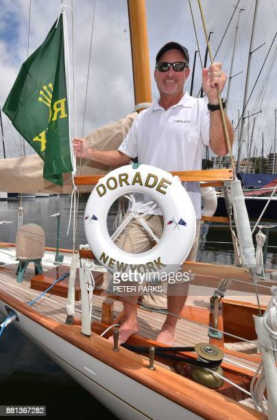 The skipper of US racing yacht 'Dorade' Kevin Milllar speaks to the media at the official launch of the Sydney to Hobart Yacht Race 2017 at the...