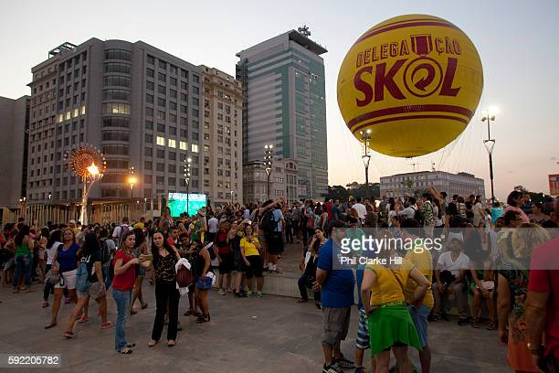 The Skol hot air baloon People from all over the World have come down to the Olympic boulevard to enjoy the games at this live site Praca Maua and...