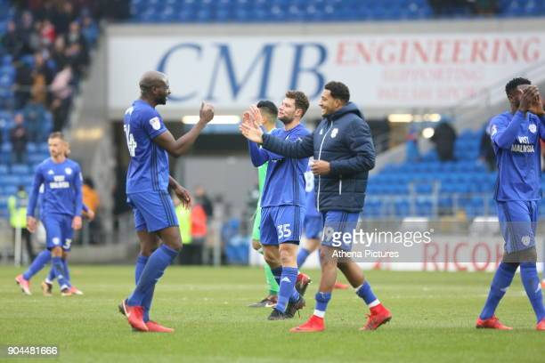 the Sky Bet Championship match between Cardiff City and Sunderland at the Cardiff City Stadium on January 13 2018 in Cardiff Wales