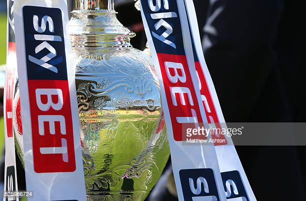 The Sky Bet Football League Championship trophy