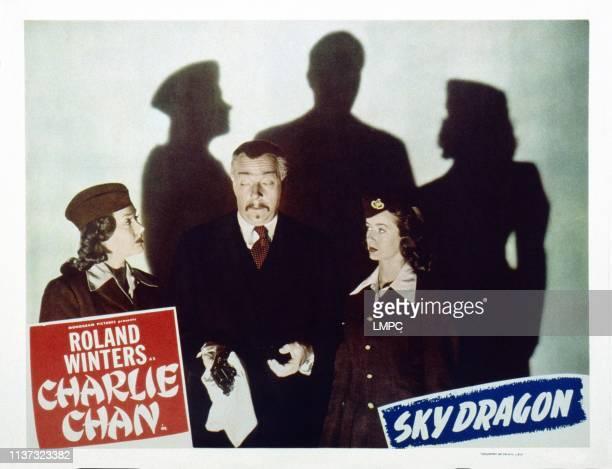 The Sky Dragon, US lobbycard, from left: Elena Verdugo, Roland Winters, Noel Neill, 1949.