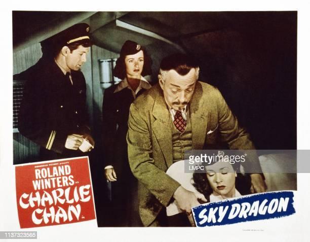 The Sky Dragon, US lobbycard, from left: Joel Marston, Noel Neill, Roland Winters, Elena Verdugo, 1949.