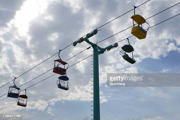 The Sky Glider attraction is seen at the Iowa State Fair in Des Moines Iowa US on Thursday Aug 8 2019 The 2020 Democratic field is gathering in Iowa...
