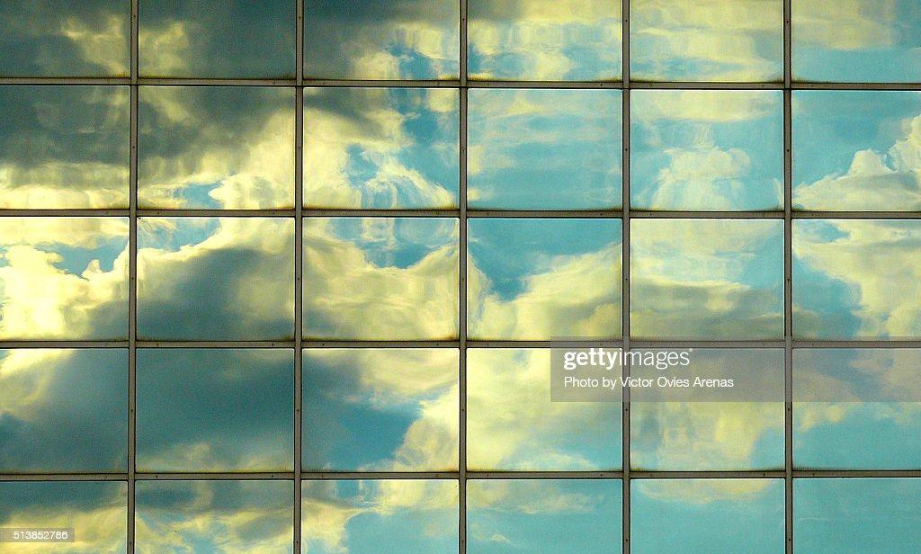 The sky in the city : Foto de stock