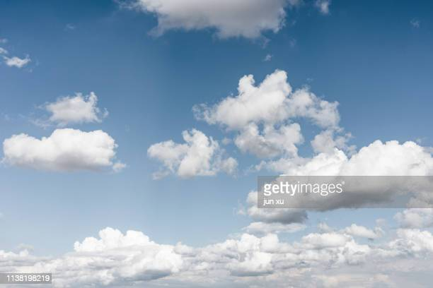 the sky is clear with clouds - cloud sky stock pictures, royalty-free photos & images