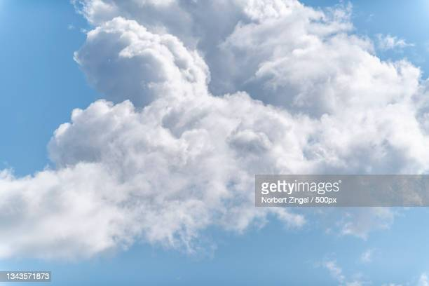 the sky is clear with clouds,gelting,germany - norbert zingel stock-fotos und bilder