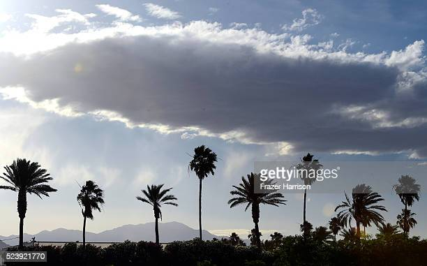 The sky is seen during day 3 of the 2016 Coachella Valley Music Arts Festival Weekend 2 at the Empire Polo Club on April 24 2016 in Indio California