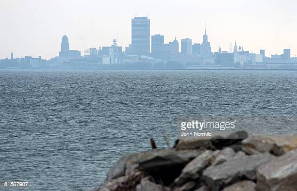 The sky line of the hometown of journalist Tim Russert is seen June 14 2008 in Buffalo New York Russert the host of Meet The Press died unexpectedly...