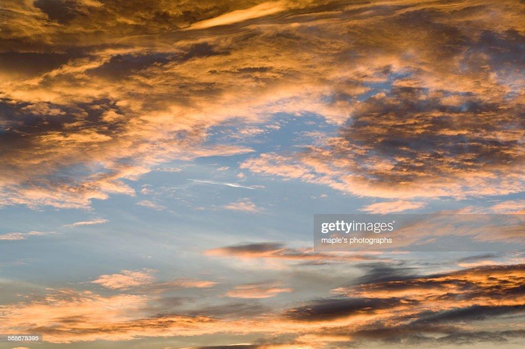 The sky of the dusk,Japan : Stock Photo