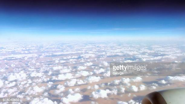 The sky over the Sahara Desert