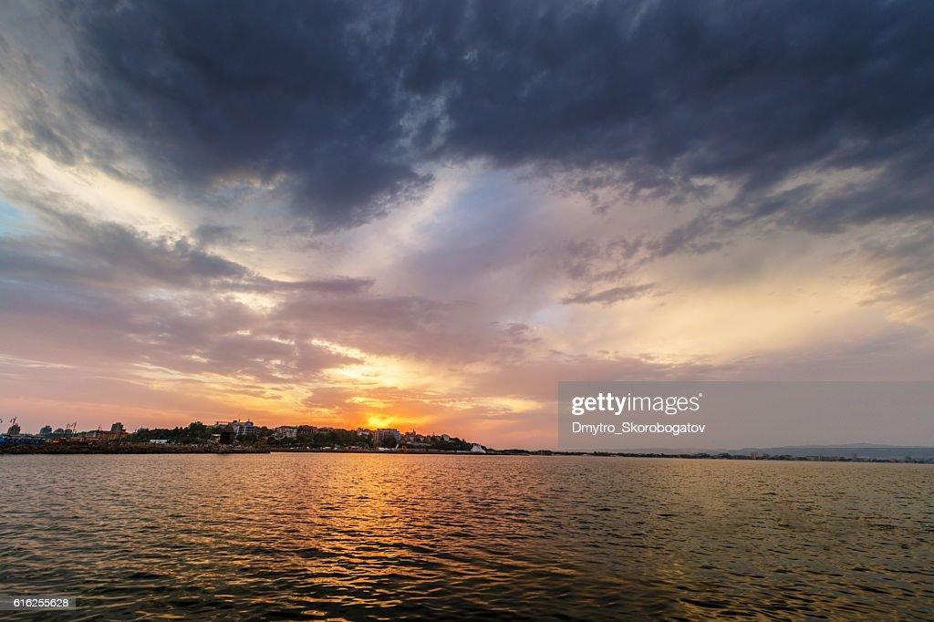 O céu sobre o mar : Foto de stock