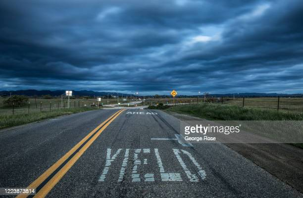 The sky remains cloudy along the intersection of Highway 154 and Armour Ranch Road following a series of late spring storms as viewed on March 22...
