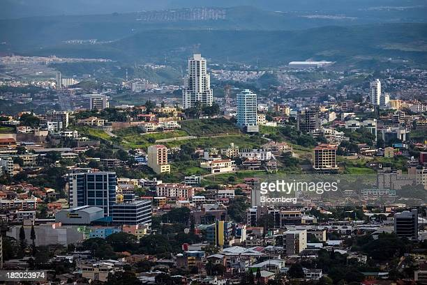The Sky Residence Club center the tallest building in the city stands in Tegucigalpa Honduras on Tuesday Sept 3 2013 Economic growth in Honduras is...