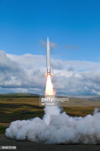 The Skybolt 2 Research Rocket is successfuly launched from Otterburn in Northumberland on September 11, 2017 in Hexham, England. Standing at over 8...
