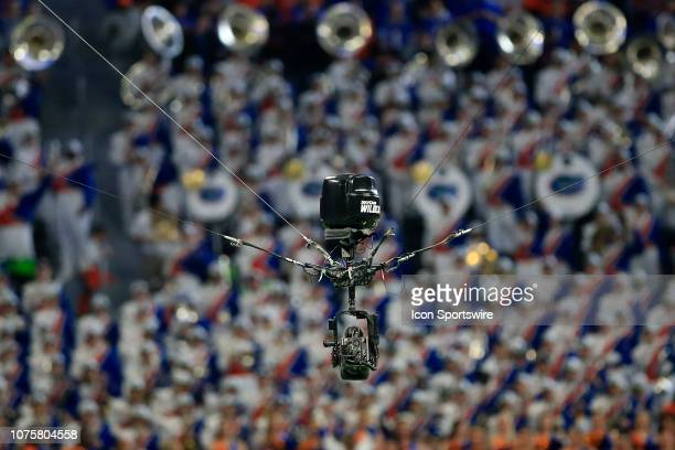 The SkyCam during the Peach Bowl between the Florida Gators and the Michigan Wolverines on December 29 2018 at the MercedesBenz Stadium in Atlanta GA
