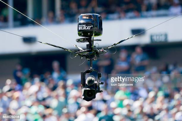 The Skycam Wildcat moves along the field during the NFL game between the New York Giants and the Philadelphia Eagles on September 24 2017 at Lincoln...