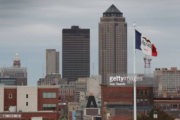 The skyline is seen in Iowa's capital city on October 09, 2019 in Des Moines, Iowa. The 2020 Iowa Democratic caucuses will take place on February 3...