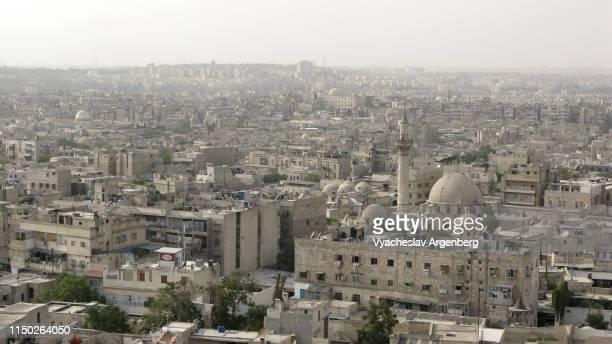 the skyline of aleppo, syria - argenberg - fotografias e filmes do acervo