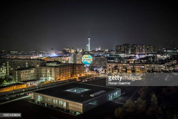 The skyline of Berlin is pictured on October 17 2018 in Berlin Germany