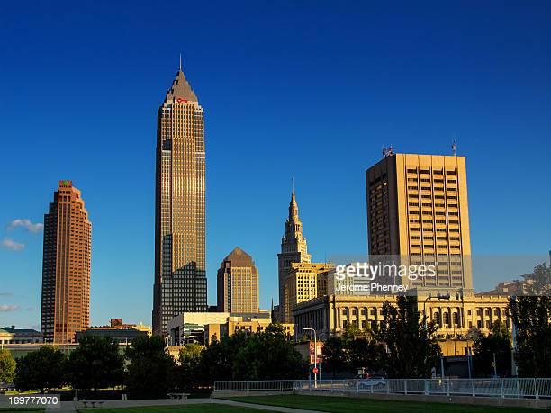 The Skyline of Cleveland at dusk