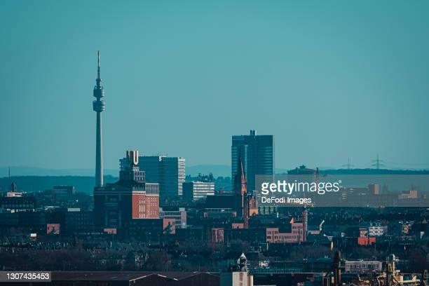 The skyline of Dortmund on February 28, 2021 in Dortmund, Germany.
