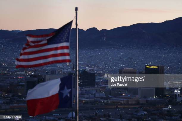 The skyline of El Paso and Ciudad Juarez Mexico is seen on January 19 2019 in El Paso Texas The US government is partially shutdown as President...