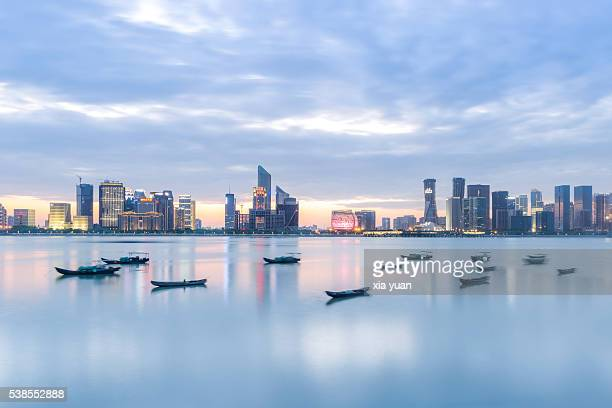 The skyline of Hangzhou City,Zhejiang,China
