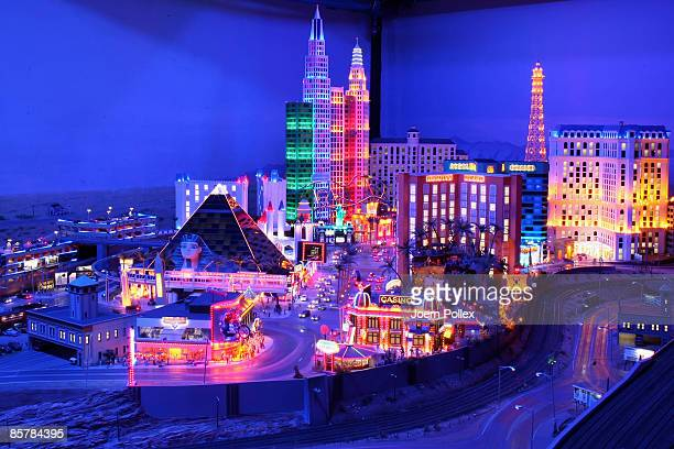 The skyline of Las Vegas is seen in the USA part of the 'Miniatur Wunderland' on April 2 2009 in Hamburg Germany The world's largest model railway...
