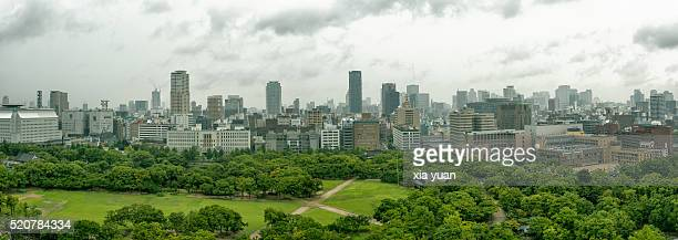 The skyline of Osaka,Japan