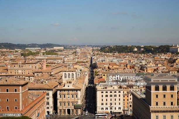 the skyline of rome, italy - fascism stock pictures, royalty-free photos & images