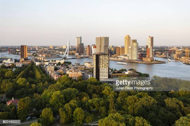 The skyline of Rotterdam in the Netherlands.
