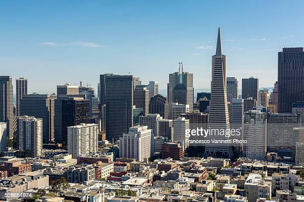 The skyline of San Francisco with Transamerica Pyramid