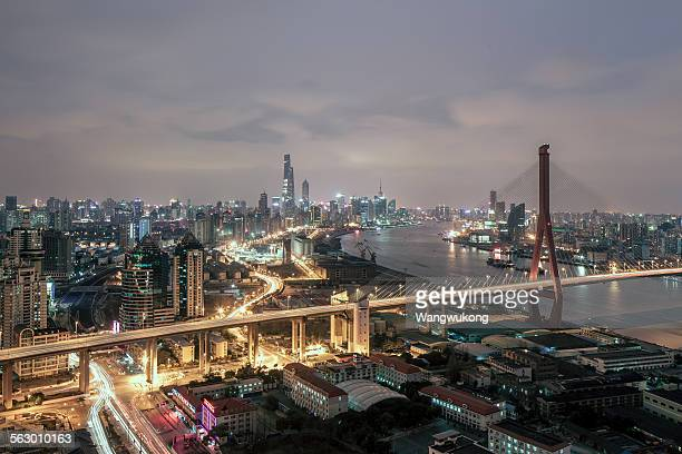 the skyline of the both sides of the Huangpu River