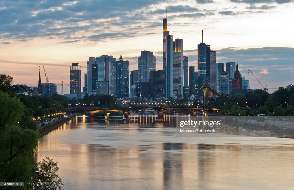 Skyline Of Frankfurt : News Photo