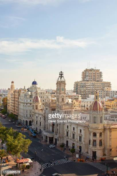 the skyline of valencia, spain - valencia stock pictures, royalty-free photos & images