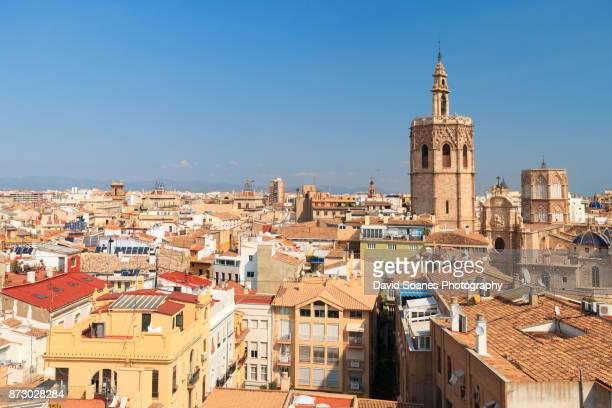 The skyline of Valencia, Spain